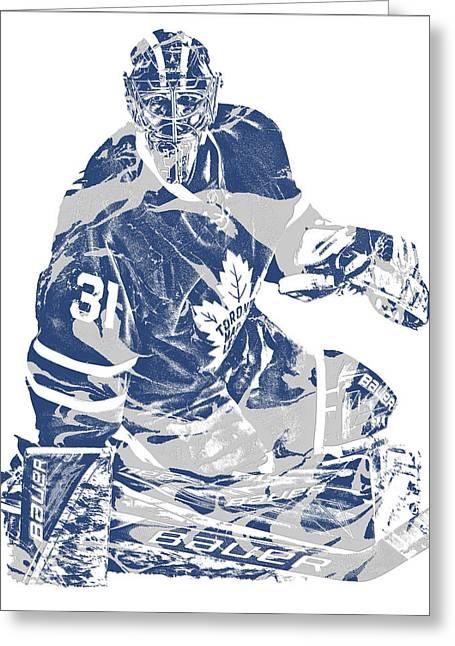 Frederik Andersen Toronto Maple Leafs Pixel Art 1 Greeting Card