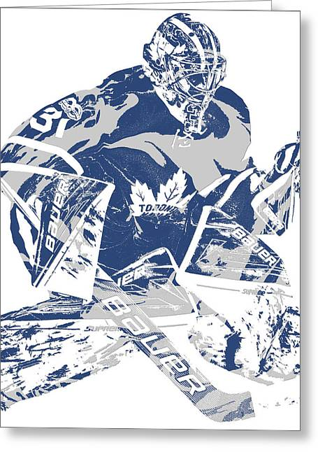 Toronto maple leafs greeting cards fine art america frederik andersen toronto maple leafs pixel art 2 greeting card bookmarktalkfo Images