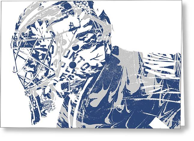 Frederik Andersen Toronto Maple Leafs Pixel Art 3 Greeting Card