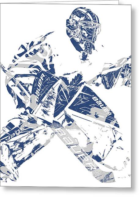 Toronto maple leafs greeting cards fine art america frederik andersen toronto maple leafs pixel art 4 greeting card bookmarktalkfo Images
