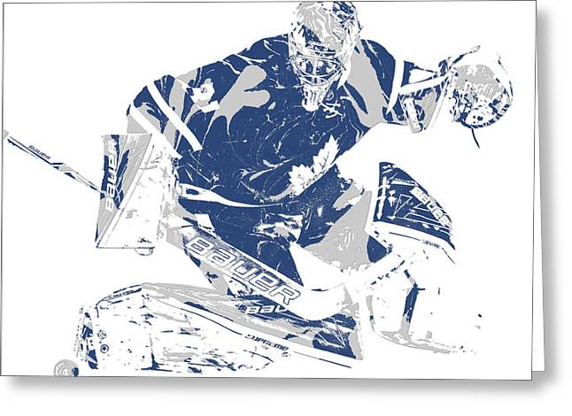 Frederik Andersen Toronto Maple Leafs Pixel Art 5 Greeting Card