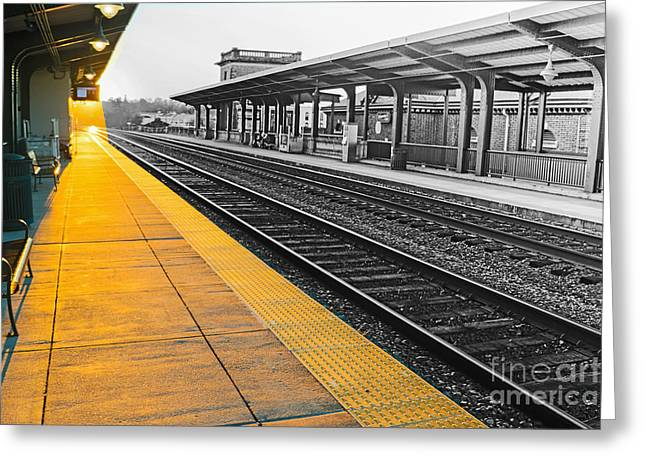 Fredricksburg Train Station At Sunset Greeting Card by Thomas Marchessault