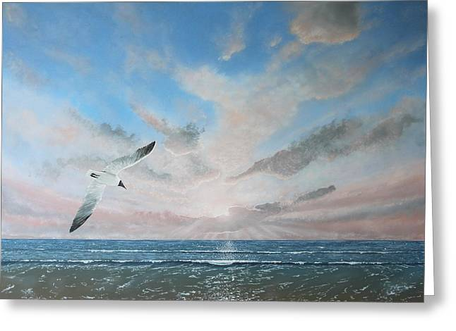 Free As A Bird Greeting Card by Paul Newcastle
