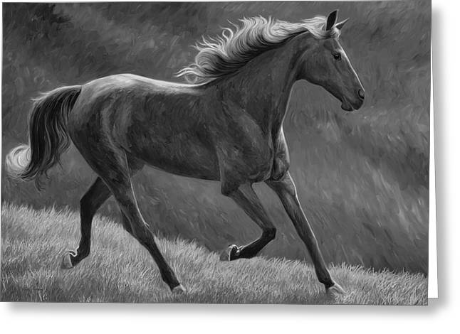 Free - Black And White Greeting Card by Lucie Bilodeau