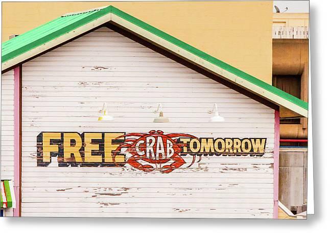 Free Crabs Tomorrow Greeting Card