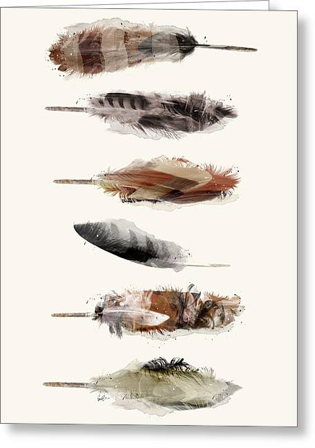 Free Fall Feathers Greeting Card