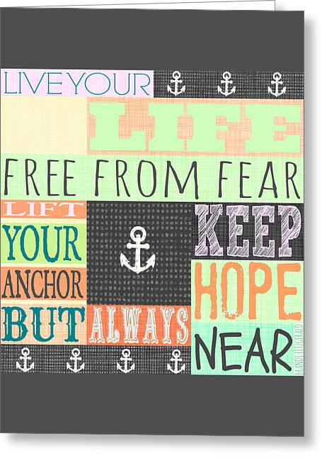 Free From Fear Greeting Card