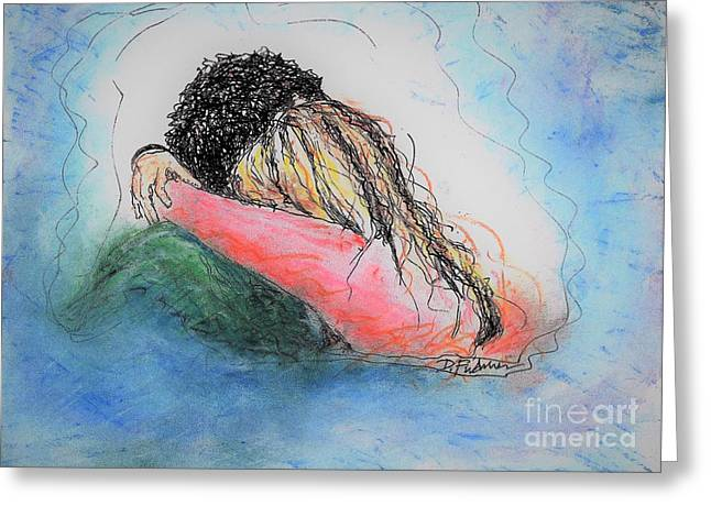 Greeting Card featuring the mixed media Free Hugs by Denise Fulmer