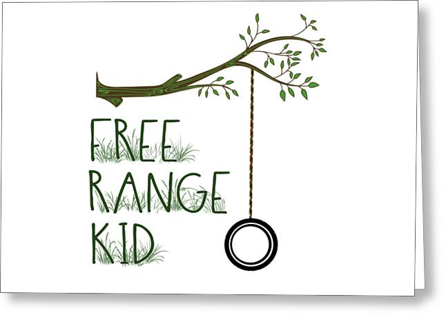 Free Range Kid Greeting Card