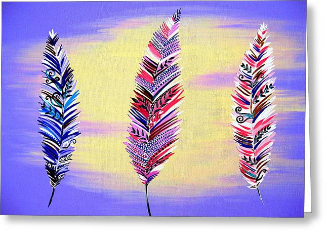 Free Spirited- Mauve Greeting Card by Cathy Jacobs