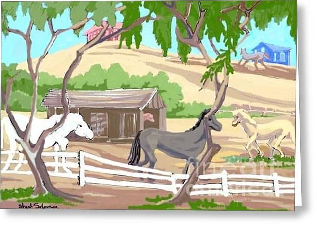 Free Uncircumsized Horses Greeting Card