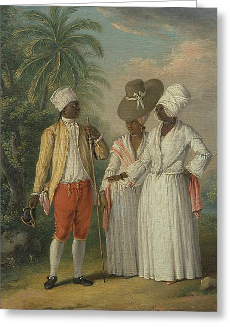Free West Indian Dominicans Greeting Card by Agostino Brunias