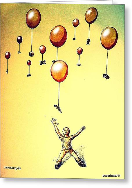 Free Will Greeting Card by Paulo Zerbato
