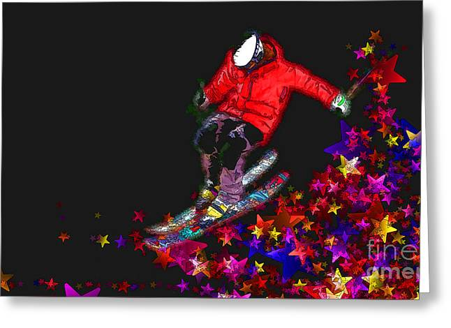 Greeting Card featuring the digital art Freedom 2016 by Kathryn Strick