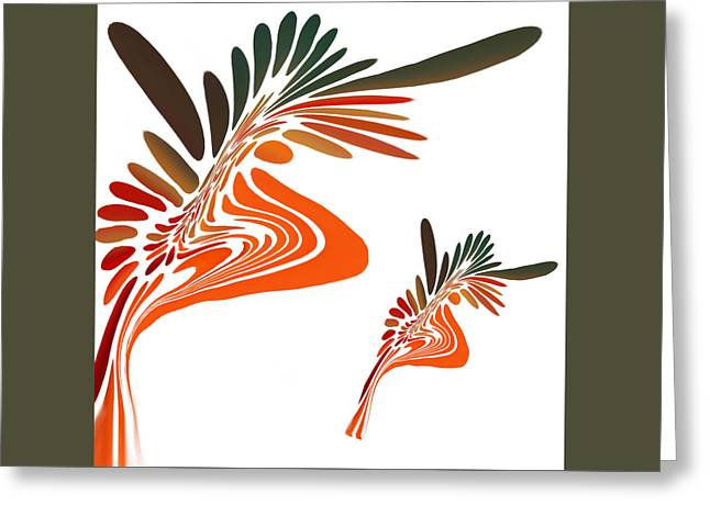 Freedom Abstract Greeting Card by Art Spectrum