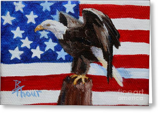 Freedom Aceo Greeting Card