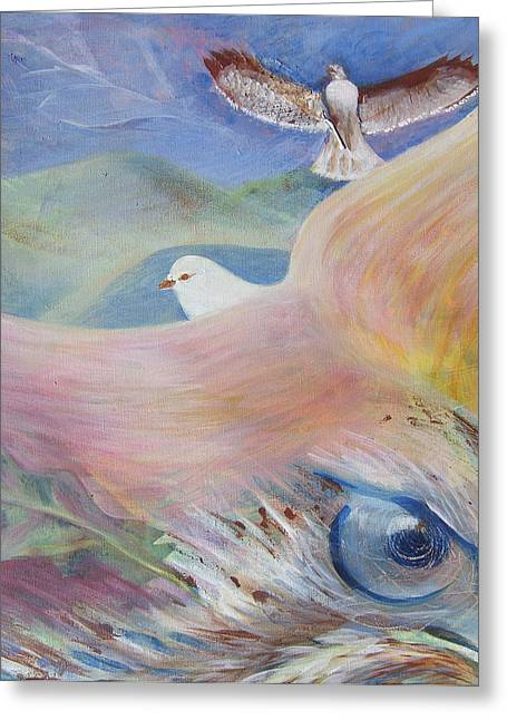 Freedom And Fear Greeting Card by Claudia Dose