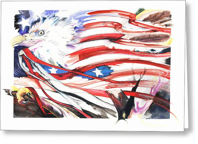 Freedom Greeting Card by Anthony Burks Sr