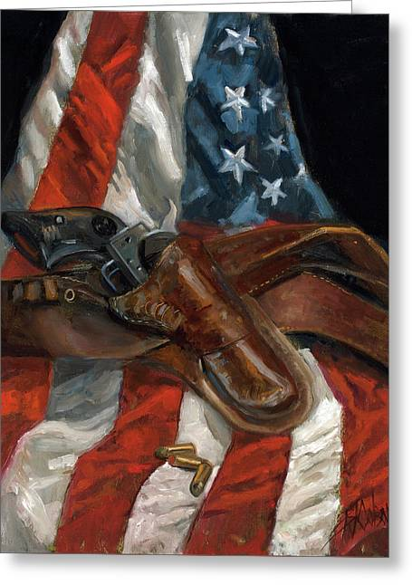 Freedom Greeting Card by Billie Colson