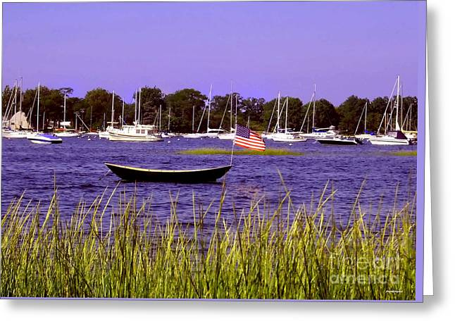 Freedom Bristol Harbor Rhode Island Greeting Card by Tom Prendergast
