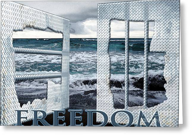 Freedom Greeting Card by Cheri Doyle