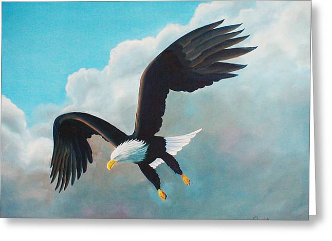 Freedom Eagle Greeting Card by Randall Brewer