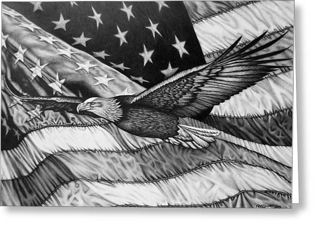 Freedom Greeting Card by Glen Powell
