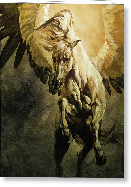 Freedom Greeting Card by Heather Theurer