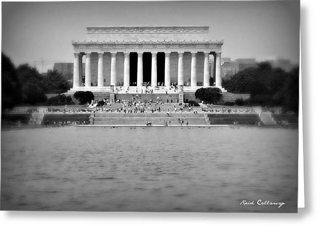 Freedom In Focus The Lincoln Monument  Greeting Card