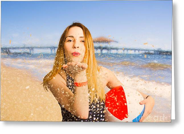 Freedom In Summer Vacation  Greeting Card by Jorgo Photography - Wall Art Gallery
