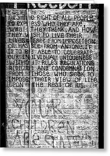 Freedom Greeting Card by James Aiken