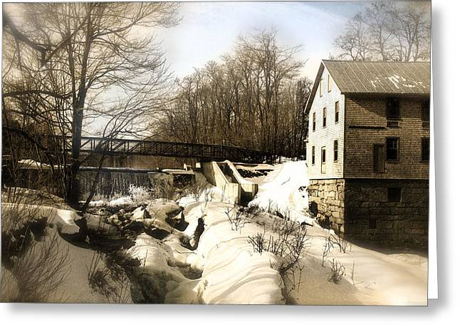 Freedom Mill Stream Greeting Card