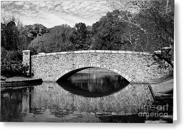Freedom Park Bridge In Black And White Greeting Card