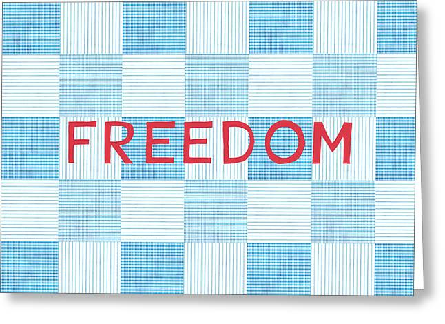 Freedom Patchwork Greeting Card