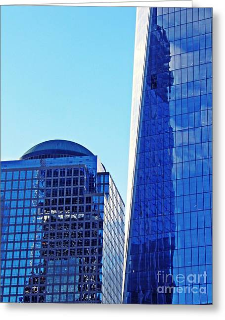 Freedom Tower And 2 World Financial Center Greeting Card