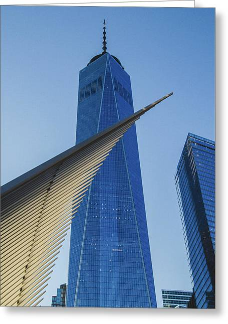 Freedom Tower And Oculus At Sunset Greeting Card by Jeff at JSJ Photography