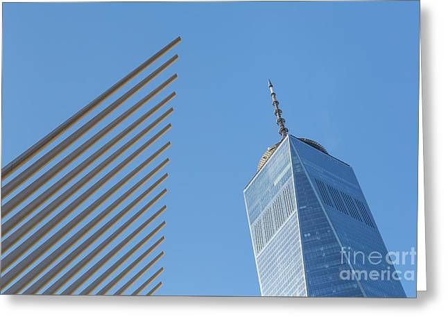 Freedom Tower And Oculus V Greeting Card