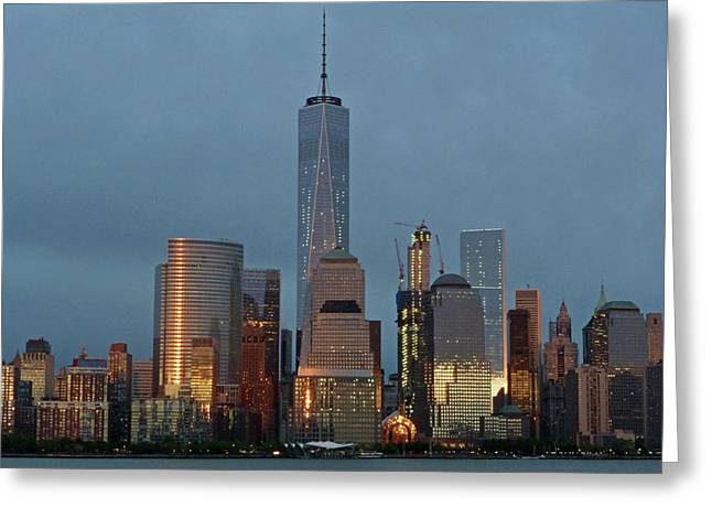 Freedom Tower At Dusk Greeting Card