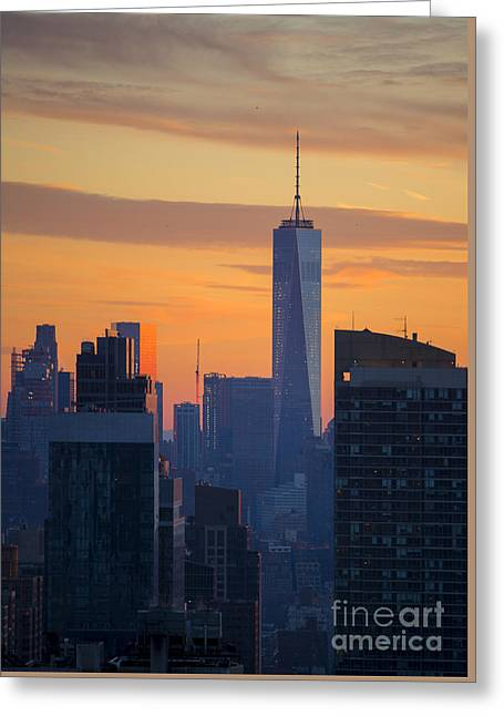 Freedom Tower At Sunset Greeting Card