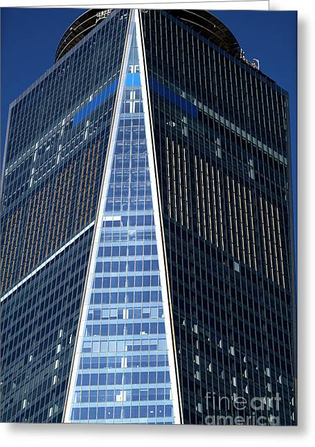 Greeting Card featuring the photograph Freedom Tower Blues by John Rizzuto