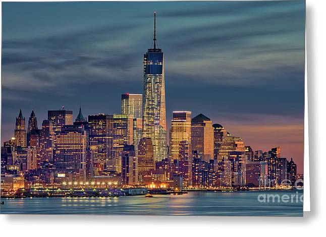 Freedom Tower Construction End Of 2013 Greeting Card