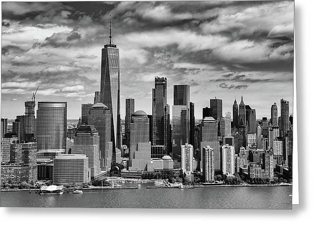 Greeting Card featuring the photograph Freedom Tower by Rand