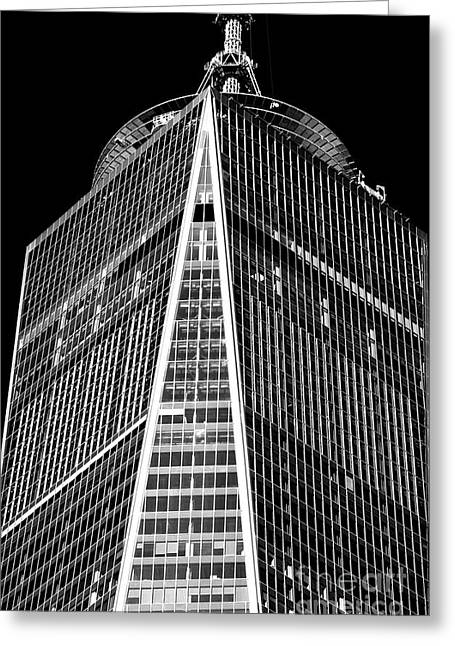 Greeting Card featuring the photograph Freedom Tower Windows by John Rizzuto