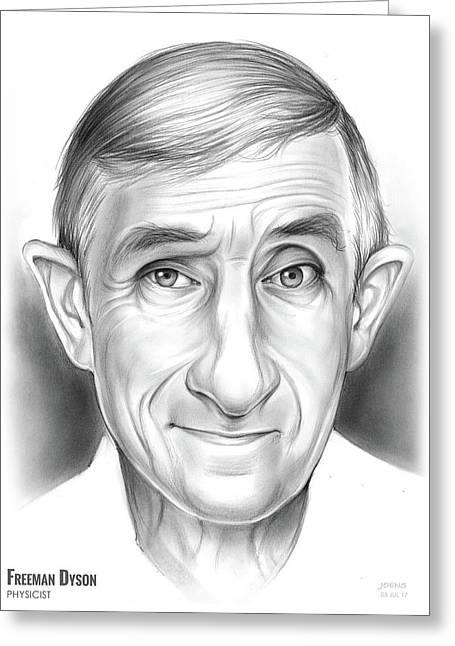 Freeman Dyson Greeting Card