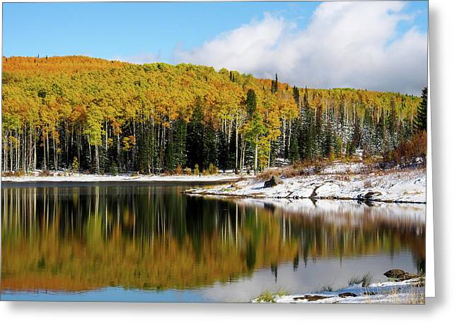 Freeman Lake In Northwest Colorado In The Fall Greeting Card