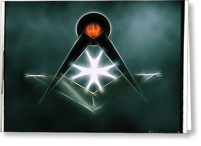 Freemason Symbol By Raphael Terra Greeting Card