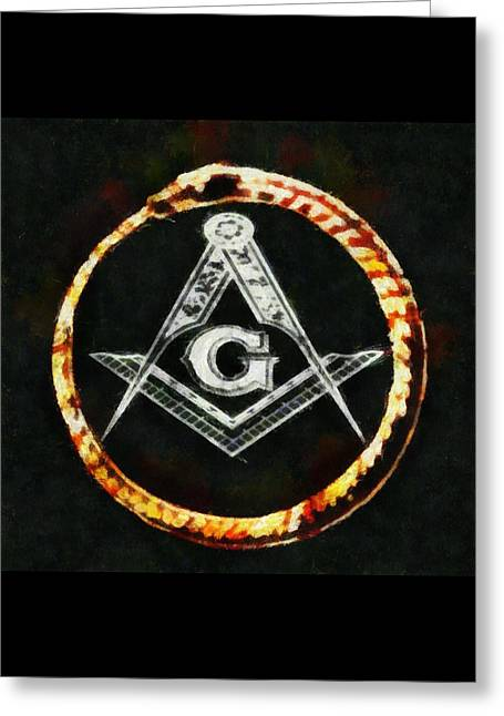 Freemason Symbol Greeting Card by Pierre Blanchard