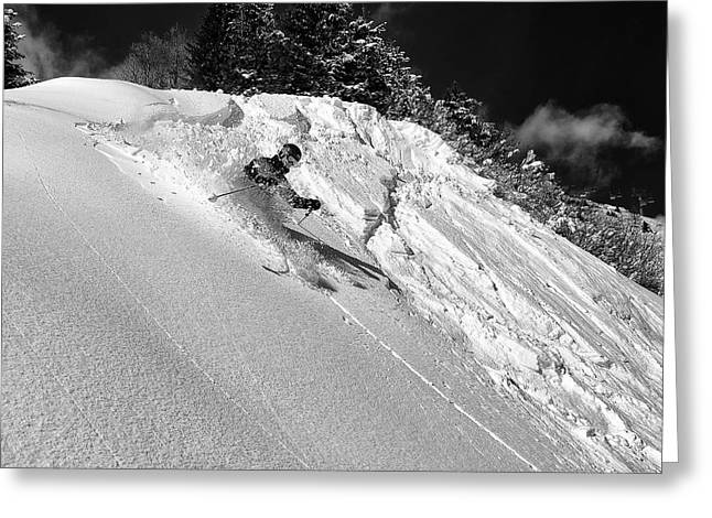 Freeride Greeting Card by Marcel Rebro