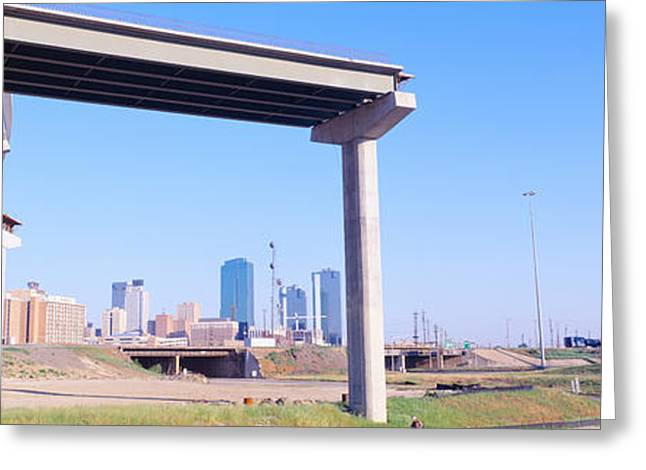 Freeway Dead End, Fort Worth, Texas Greeting Card by Panoramic Images