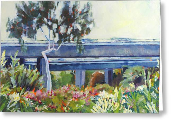 Freeway In The Garden Greeting Card